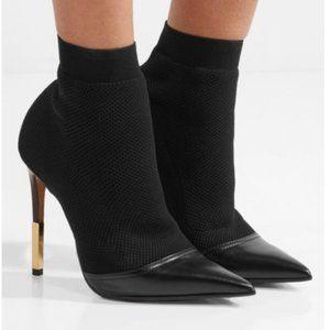 Balmain Sock Booties Boots Black NEW 39